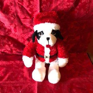 Big dog stuffed Santa 12 inches